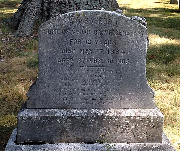 A Brief History Of Cedar Grove Cemetery, Dorchester