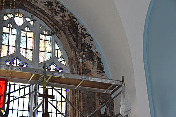 Interior Restoration of Gilman Chapel Underway - Cedar Grove Cemetery