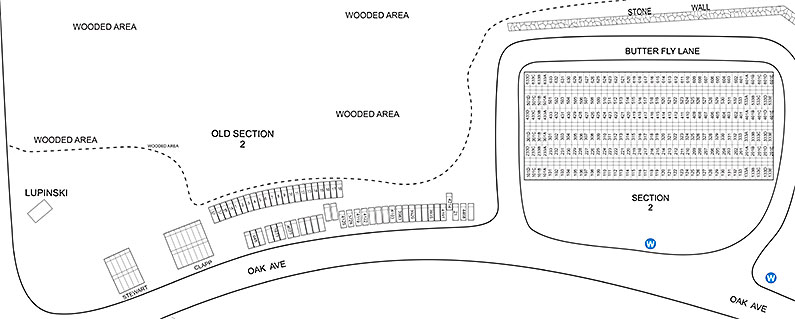 Cedar Grove Cemetery Maps - Section 2